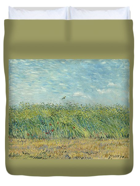 Wheatfield With Partridge Duvet Cover