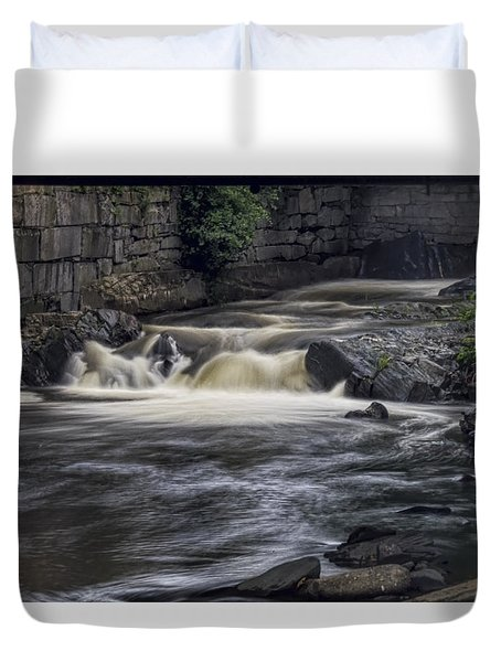 Duvet Cover featuring the photograph Whetstone Brook by Tom Singleton