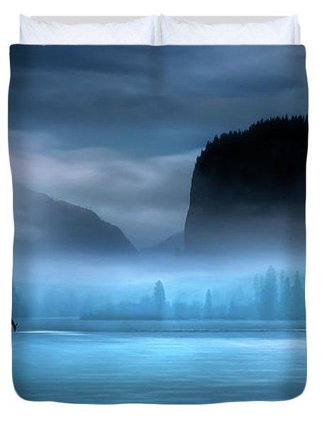 Duvet Cover featuring the photograph While You Were Sleeping by John Poon