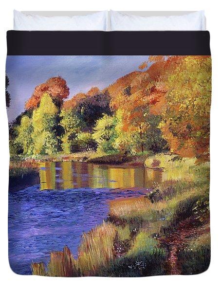 Whispering River Duvet Cover