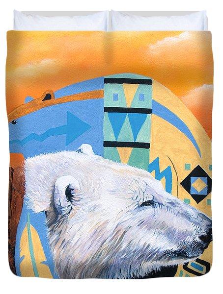 White Bear Goes Southwest Duvet Cover