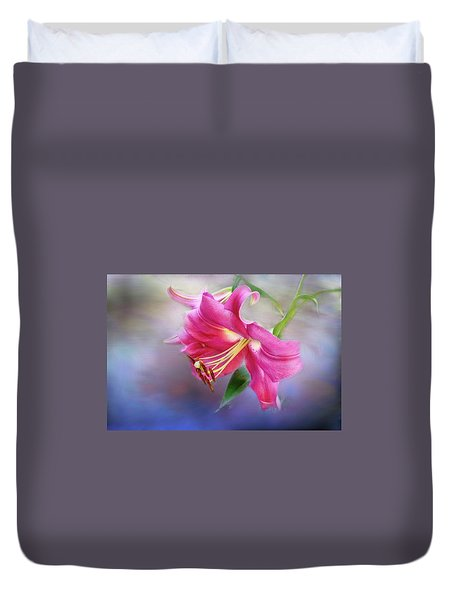 White Hall Lily Duvet Cover