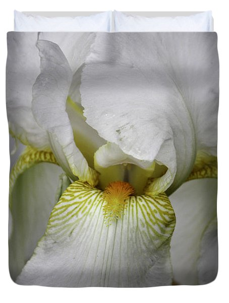 White Iris Duvet Cover by Teresa Mucha