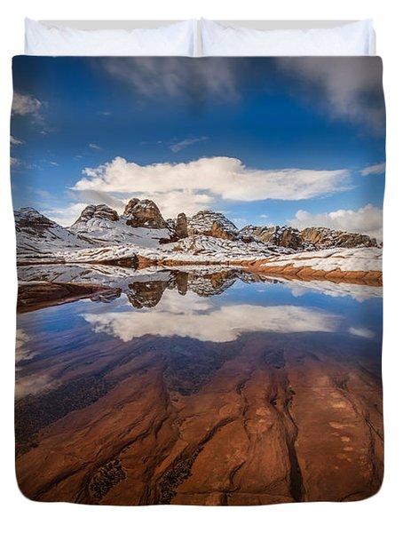 White Pocket Northern Arizona Duvet Cover