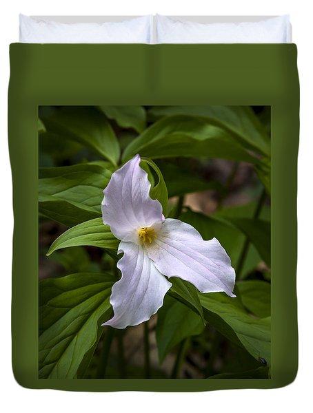 White Trillium Duvet Cover