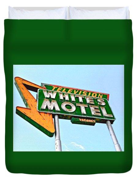 White's Motel Duvet Cover by Matthew Bamberg