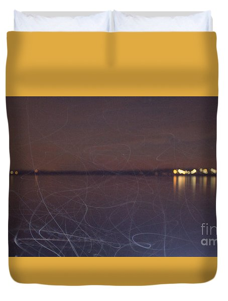 Duvet Cover featuring the photograph Whoosh Of Mosquitoes In The Night by Odon Czintos