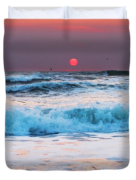 Widemouth Sunset, Cornwall Duvet Cover