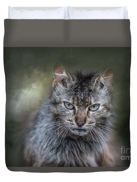 Wild Cat Portrait Duvet Cover