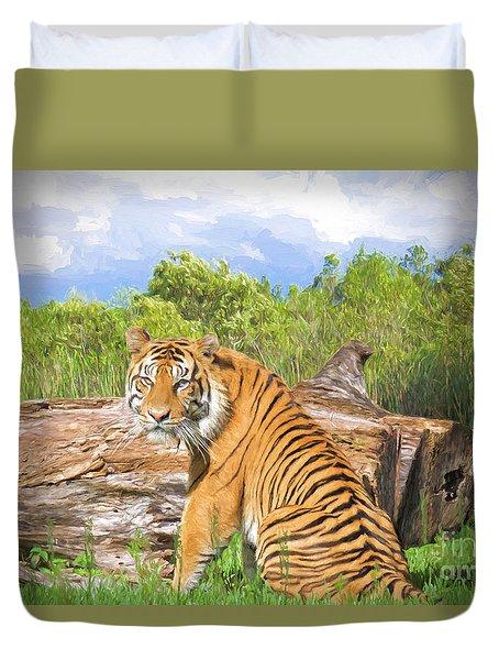 Wild Kingdom Duvet Cover by Judy Kay