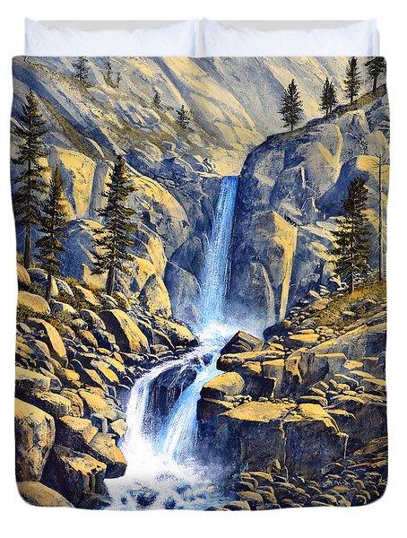 Wilderness Waterfall Duvet Cover by Frank Wilson
