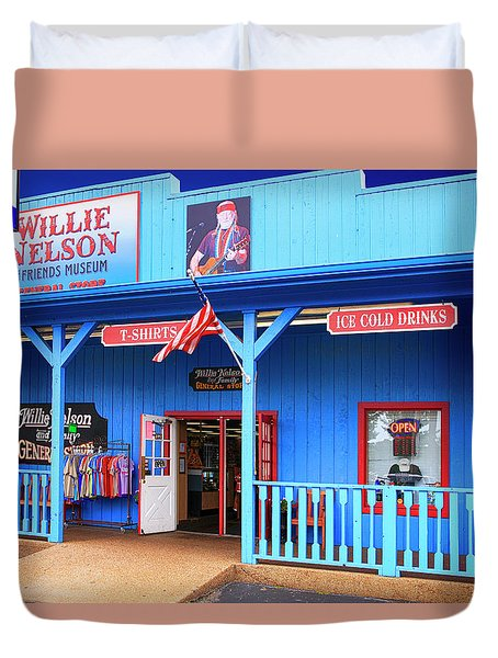 Willie Nelson And Friends Museum And Souvenir Store In Nashville, Tn, Usa Duvet Cover