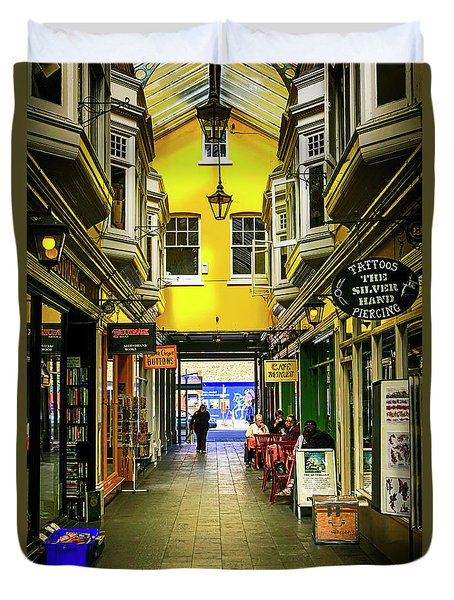 Windham Shopping Arcade Cardiff Duvet Cover