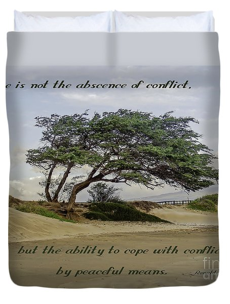 Windy Lean Duvet Cover