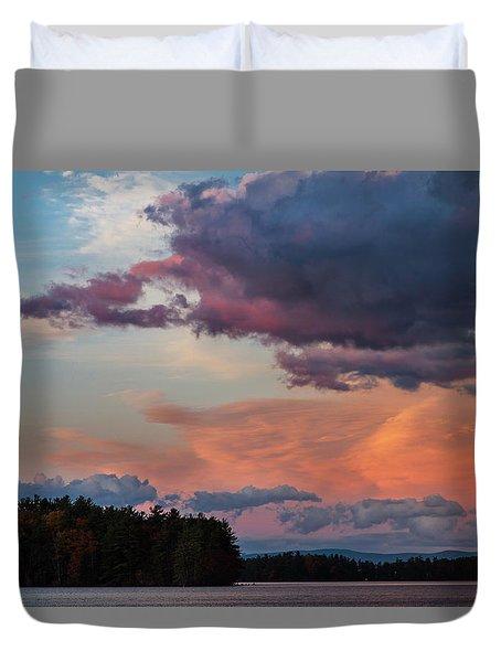 Winnisquam Sunset Duvet Cover