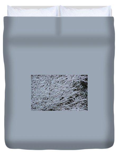 Winter At Dusk Duvet Cover