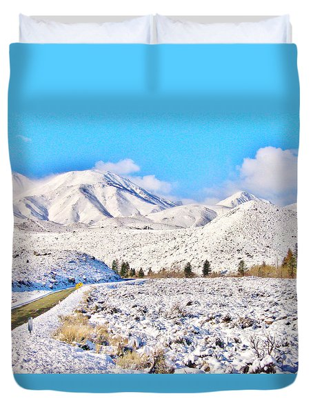 Winter Driving Duvet Cover