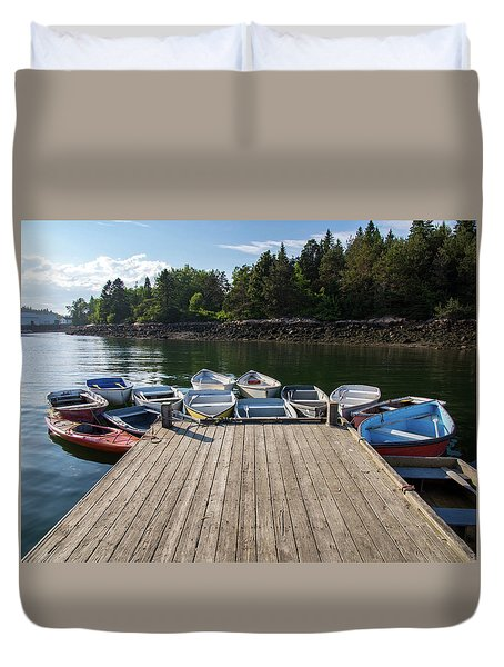 Winter Harbor Maine  Duvet Cover