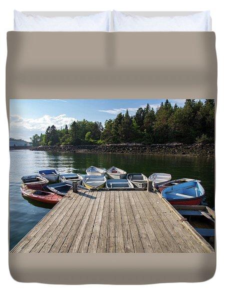 Winter Harbor Maine  Duvet Cover