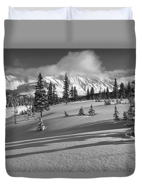 Winter In Banff Duvet Cover