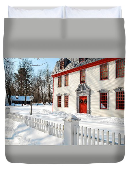 Winter In The Country Duvet Cover