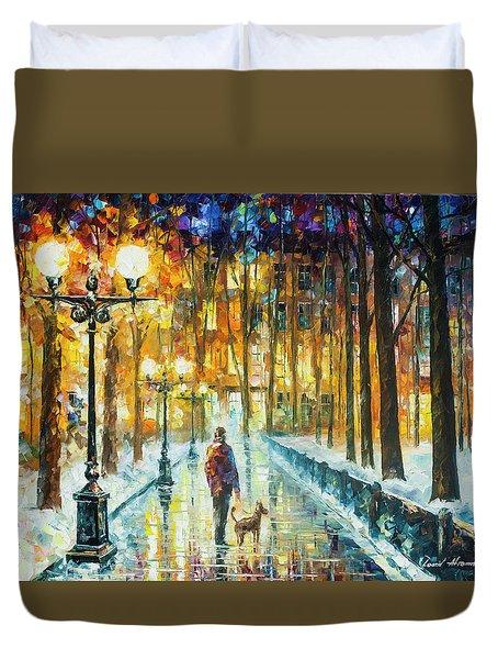 Winter Light  Duvet Cover by Leonid Afremov