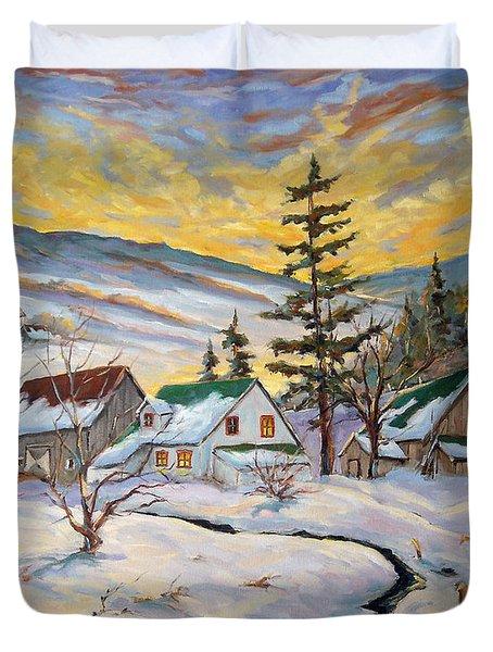 Winter Lights Duvet Cover