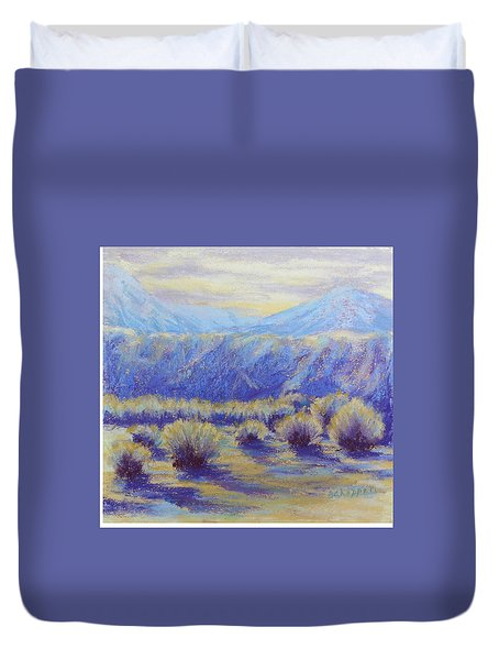 Winter Morning Riverbend Duvet Cover by Becky Chappell