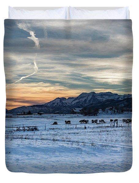 Winter Range Duvet Cover