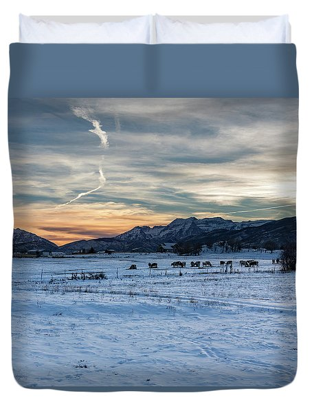 Winter Range Duvet Cover