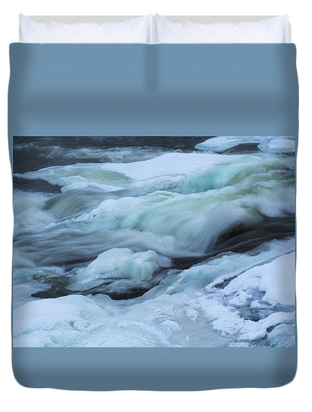 Winter Waterfall Duvet Cover