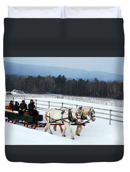 Winter Wonderland Duvet Cover by James Kirkikis