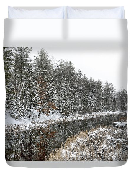 Winter Wonderland Reflection Duvet Cover