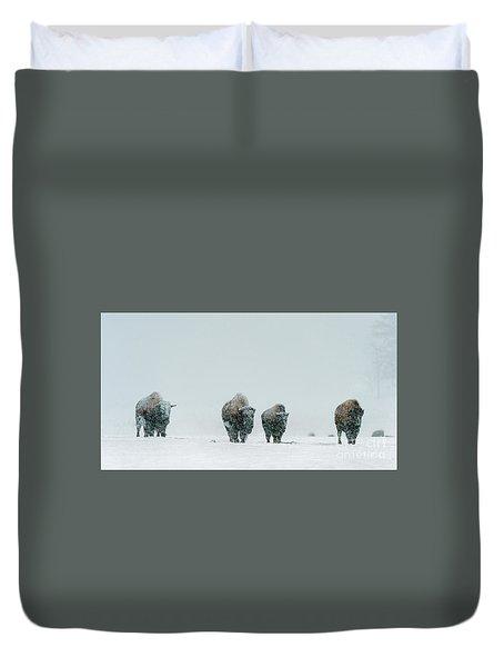 Duvet Cover featuring the photograph Winter's Burden II by Sandra Bronstein