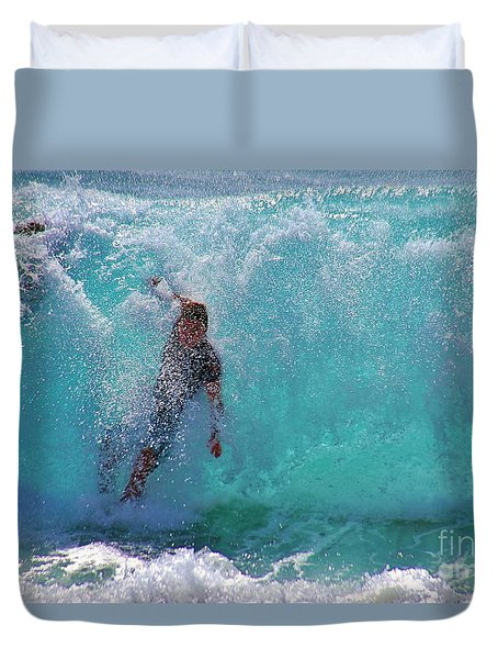 Wipe Out Duvet Cover by Craig Wood