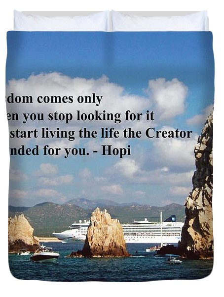 Duvet Cover featuring the photograph Wisdom by Gary Wonning