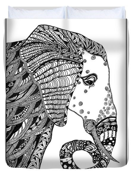 Wise Elephant Duvet Cover