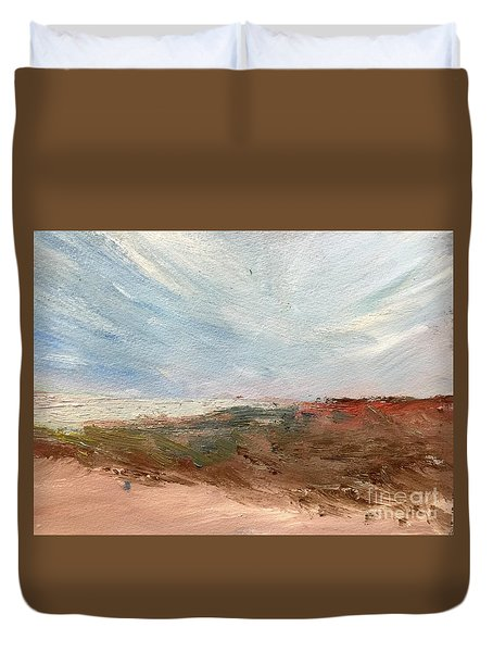 Duvet Cover featuring the painting Witness by Trilby Cole
