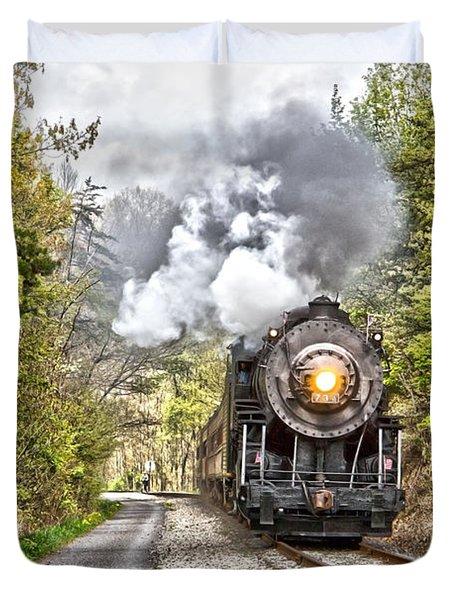 Wmsr Steam Engine 734  Duvet Cover