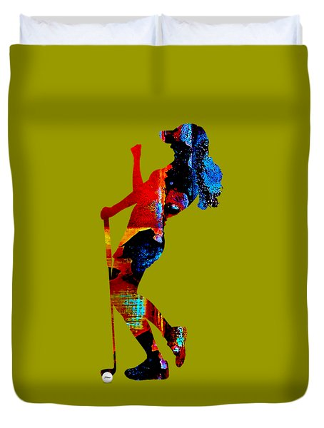 Womens Golf Collection Duvet Cover