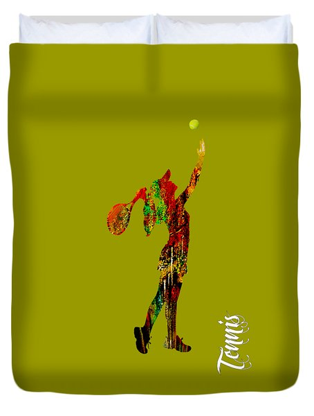 Womens Tennis Collection Duvet Cover