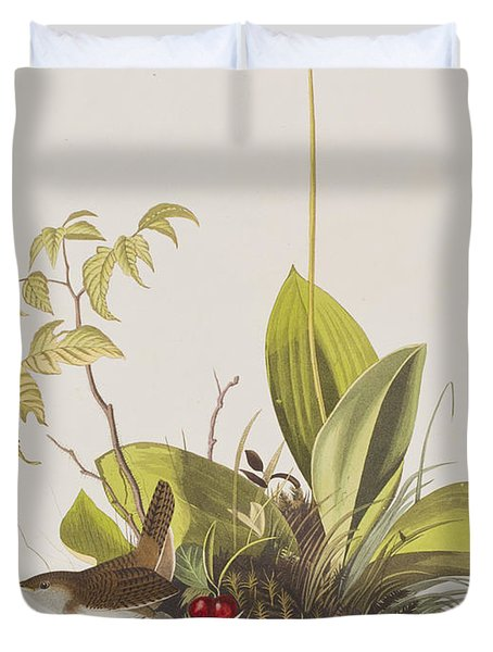 Wood Wren Duvet Cover by John James Audubon