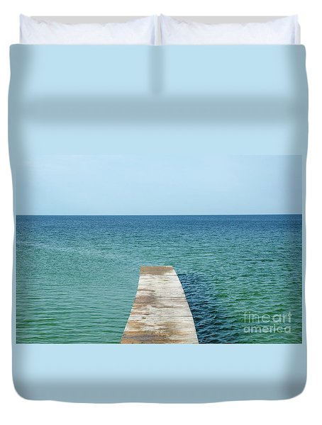 Wooden Bath Pier Duvet Cover