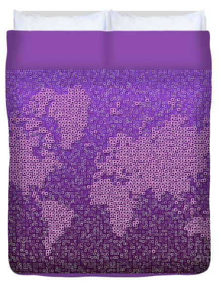 World Map Kotak In Purple Duvet Cover