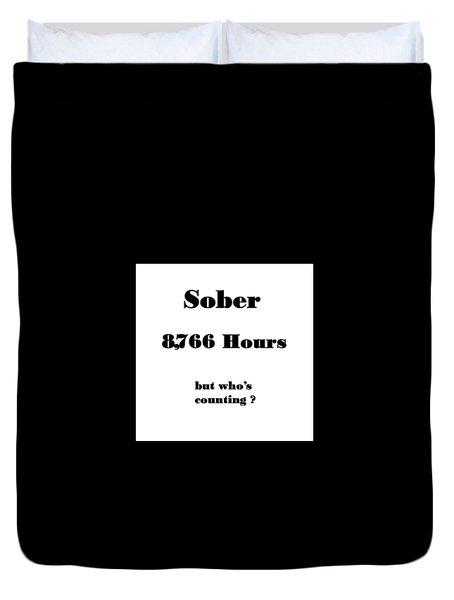 1 Year Sober Duvet Cover