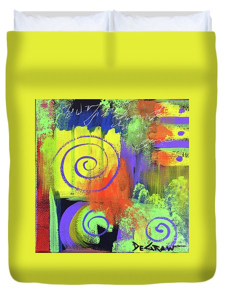 Yellow Abstract Duvet Cover