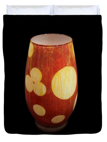 Yellow And White Vase Duvet Cover