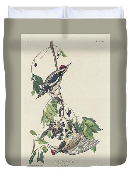 Yellow-bellied Woodpecker Duvet Cover by John James Audubon