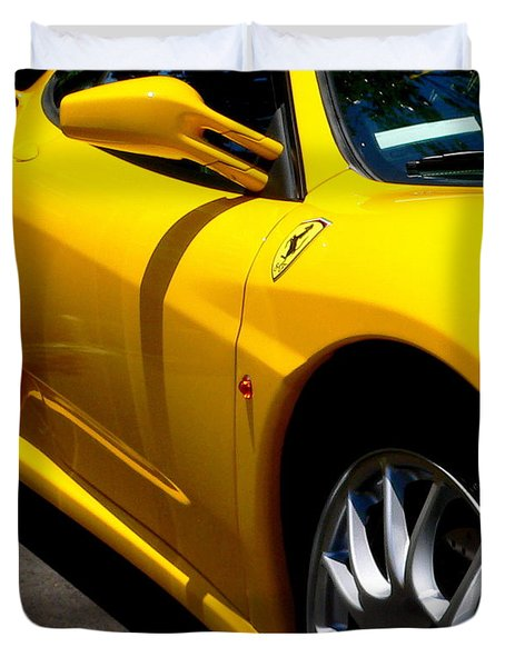 Yellow Ferrari Duvet Cover