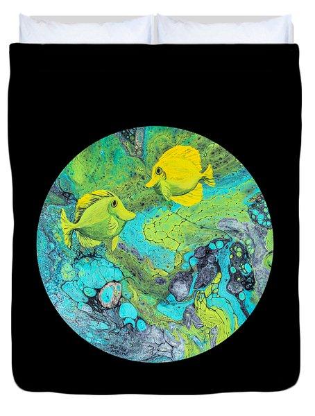 Yellow Tang Duvet Cover